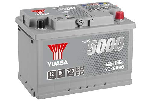 YBX5096 Yuasa Silver High Performance Auto Batteria 12V 80Ah