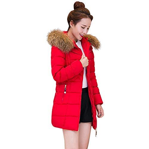Preisvergleich Produktbild Zolimx Winter warme Dicker Pelzkragen-Daunenmantel Mode Damen Lange Schlanke Jacke Baumwolle Mantel mit Kapuze Parka Lammy Outwear