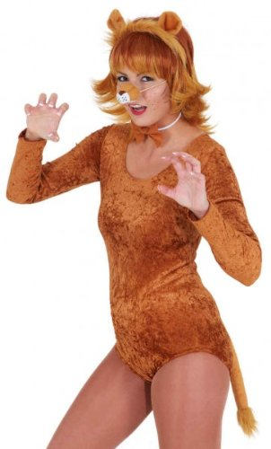 Löwe-Kostüm: Set mit Nase, Schleife, Schwanz und Haarreif mit - Löwe Und Löwin Kostüm