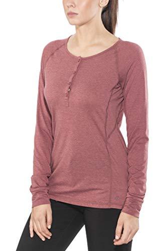 Black Diamond Attitude - T-Shirt Manches Longues Femme - Rouge 2018 t Shirt Manches Longues