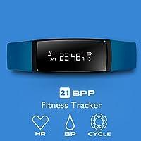 Aupalla® 21BPp Fitness-Armband / Fitness-Tracker / Activity-Tracker für Damen, mit Blutdruck- und Herzfrequenzmesser, Überwachung des weiblichen Zyklus, Schrittzähler, Schlafüberwachung, GPS, Kalorienzähler, Entfernungsmesser, kompatibel nur mit iPhone, Android, Smartphone, blau