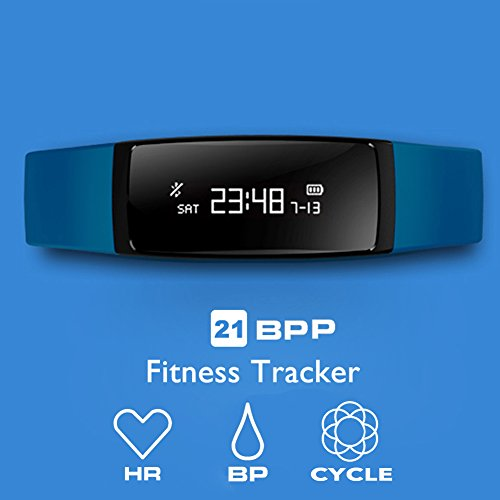 Fitness Tracker, aupalla® 21bpp actividad Tracker Smart Band (Female Version) trabajo con...