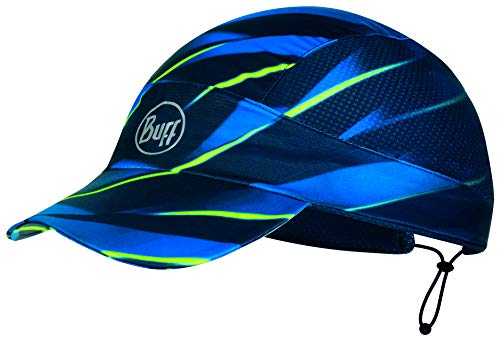 Buff Pack Run Cap Lauf-Cappy + Ultrapower Schlauchtuch | UV-Schutz | Laufen | Joggen | Sportmütze | Sport-Kappy | Laufkappe | Schirmmütze, Design:Pack Run Cap - Focus Blue - 119499.707.10.00