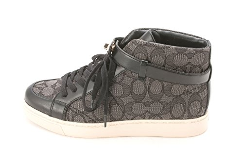 Coach Ray Outline Sig/Sprt Nap Femmes Toile Baskets Black-Smoke-Black