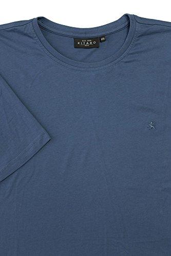 Basic T-Shirt von Kitaro in grau melange Blau