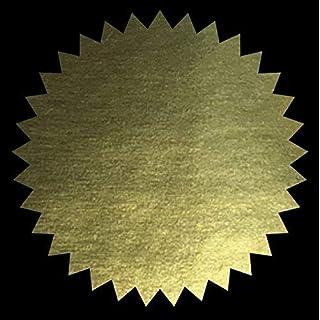 Bronze, Silber oder Gold - 50mm (2 Zoll) Notary Dichtungen - Company, Legal, Zertifikat Dichtungen - Gold, Pack Size - 500 Stickers