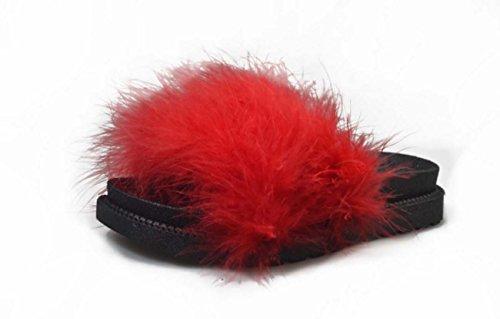 FARALY Scarpe piatte donna scarpe casual Red