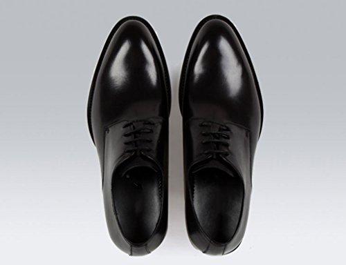 Scarpe Uomo in Pelle Scarpe da uomo in pelle stile inglese con puntini da lavoro traspiranti e formali ( Colore : Nero , dimensioni : EU42/UK7.5 ) Nero