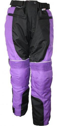 Damen Motorradhose Textil-Hose Kombigeeignet LILA, Größe:S