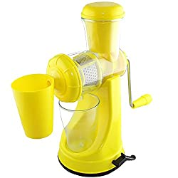Active Fruit & Vegetable Juicer Mixer Grinder with Waste Collector, (Yellow)