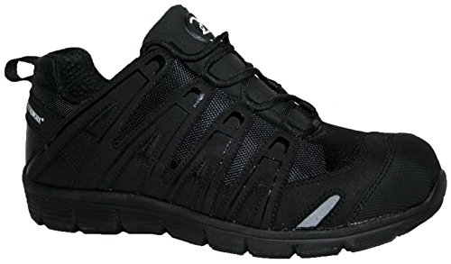 Groundwork Puntale in acciaio Saftey ultra Light weight Lace work Trainer scarpe Black V