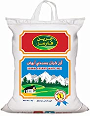Green Farms Kernel White Basmati Rice, 5 kg - Pack of 1