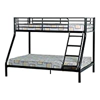 Seconique Tandi Triple Sleeper Bunk Bed Frame, Black