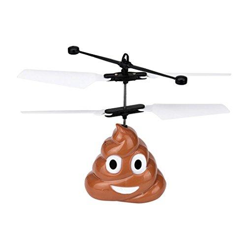RC fliegender Ball Hirolan Hand Fliegend Poop Ball Mini Induktion Suspension RC Flugzeug Fliegend Spielzeug Drohne (A) (Langsam, Hand Mixer)