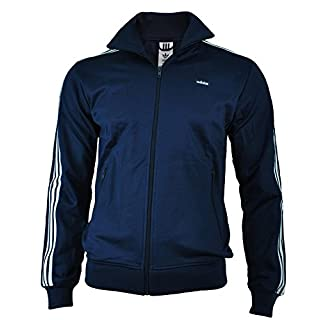 adidas Originals Mens Mens Beckenbauer Track Top in Navy - L