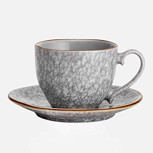 Tayaho Set Keramik Kaffeetasse Teller Grau, Golden Garden Teller