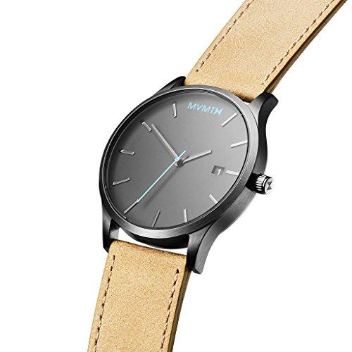 MVMT Watches Classic Herren Uhr Gunmetal/Sandstone Leder Armband MM01GML