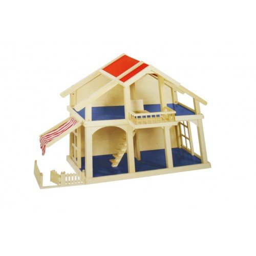 CAL FUSTER - Casa de Juguete de Madera para niños y niñas. Medidas totales: 62x45x81 cm.