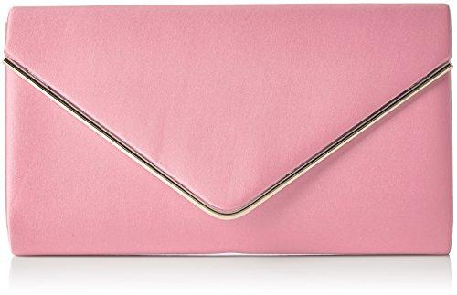 Swanky Swans Damen Kim Metallic Envelope Bag Clutch, Pink (Blush Pink), 5x12.5x21.9 cm