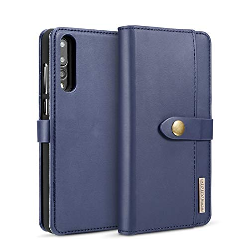 GULAN-PHONE CASE Mode Langlebig Für Huawei p20 pro, mit Halter & kartensteckplätze & Brieftasche lammfell abnehmbare horizontale flip magnetetui Bequemlichkeit (Farbe : Blau) - Blau Lammfell Brieftasche