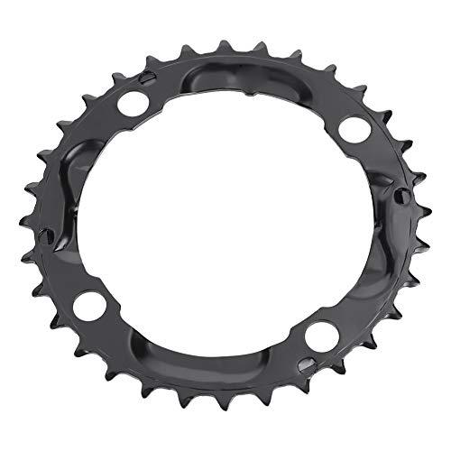 Alomejor Fahrradkettenblatt 32T 104mm BCD Hochfester Stahl Runden Kettenblatt Single Speed Kettenblatt für die meisten Fahrrad Mountainbike, 9-Fach