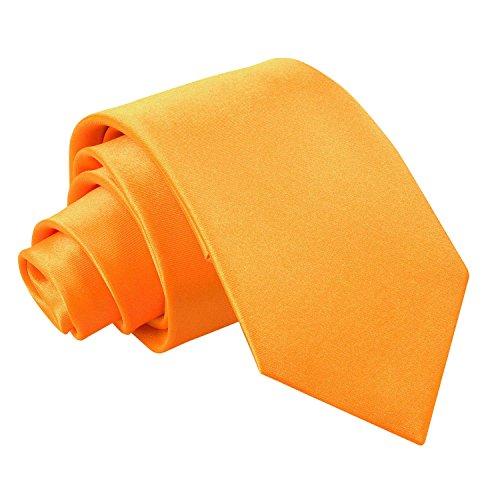 Cravate Satin Slim Orange Fluorescent