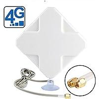 Antena 4G LTE Sma Conector Dual Mimo Exterior Señal Amplificador Receptor 35dbim Alta Ganancia Red Ethernet de Largo Alcance para Wifi Router