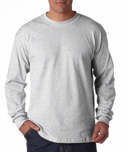 Maglietta in cotone resistente 5,3 G. Long-T-Shirt maniche Grigio cenere