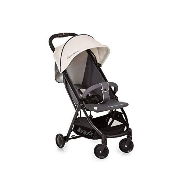 Hauck Swift Plus, Compact Pushchair with Lying Position, Extra Small Folding, One Hand Fold, Lightweight, Carrying Strap, from Birth Up To 15 kg, Mickey Cool Vibes Hauck Ultra compact fold. folds down to just 61 x 46 x 29cm, and the convenient carry strap makes it easy to carry around. One hand fold. the simple folding action can be operated with one hand, and putting it back up again can be done with just the flick of the wrist. Suitable from birth. the lie flat position means the pushchair is suitable to use straight away, with a large lying area of 85 x 33 cm 2