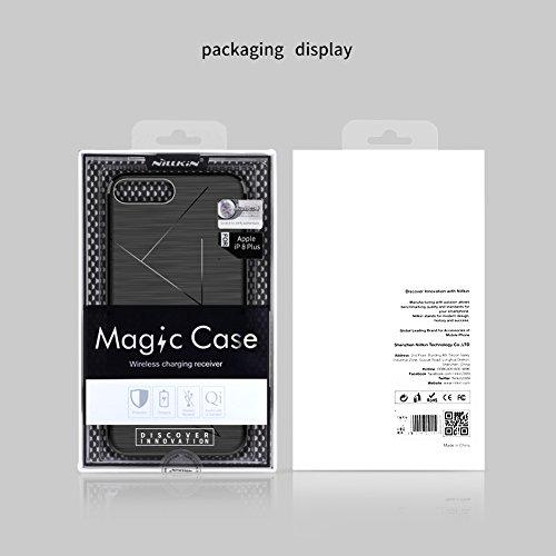 Meimeiwu Magic Case Series morbido TPU Flessibile Silicone Copertura posteriore della custodia protettiva Back Cover [Compatibile con Nillkin Magnetic Wireless Car Charger] Per iPhone 8 Plus - Nero Nero