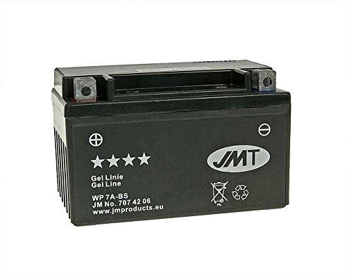 JMT GEL YTX7A-BS 12 Volt Batterie für Aprilia SXV 550, ATU Explorer 125 Race GT, Hipster 125 R1 [inkl. 7,50 Euro Batteriepfand]