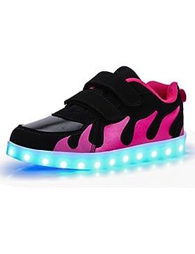 KE1AIP 11 Modus USB Aufladen LED Leuchtend Sportschuhe Sneaker Turnschuhe für Unisex Kinder