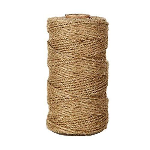 Fete Natürlichen (Westeng 100 m Twisted natur Jute Gartenschnur aus synthetischem Hanf Seil 1 mm für den Garten, Buch, Geschenk Anwendungen)