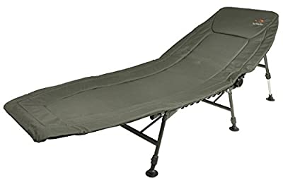 TF Gear Deluxe Folding 3 leg Carp Fishing Bedchair With Mudfeet by TFG