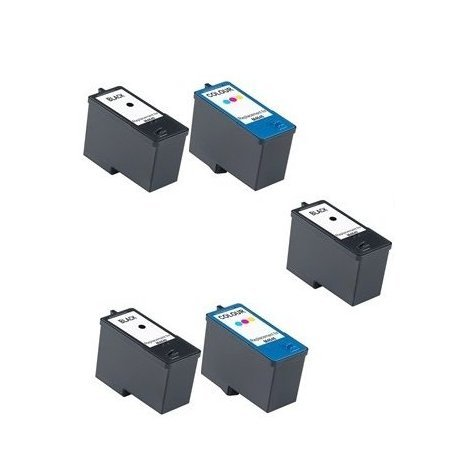 Colour Direct Kompatibel RemanufactuRot Schwarz & Colour 5 ( 2 Sets + 1 Schwarz ) Dell 992/993 (MK992/MK993) Tinte Kartuschen Ersatz Zum Dell All-In-One 926, V305, V305w Drucker (Dell-v305 Tinte Schwarz)