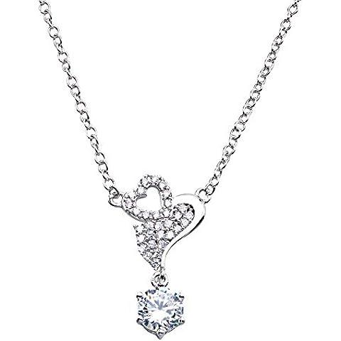 Lan Fan Moda S925 Collana pendente in argento - Argento Nome Blocco Collana