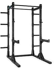 Capital Sports Bestride Jaula de musculación (2 barras de dominadas, 8 soportes para discos, entrenamiento de flexiones y tracción) - negro