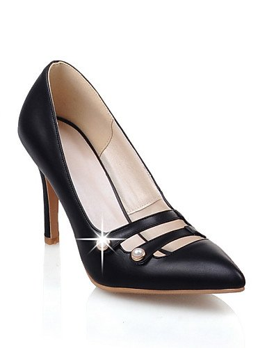 WSS 2016 Chaussures Femme-Habillé / Décontracté-Noir / Rose / Rouge / Beige-Talon Aiguille-Talons / Bout Pointu-Talons-Similicuir red-us6 / eu36 / uk4 / cn36