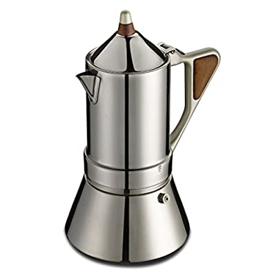 GAT Regina Caffettiera - Stove Top Espresso Coffee Maker - Induction Suitable - Stainless Steel - Various Sizes