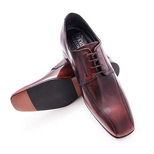 ZERIMAR Chaussures réhaussantes intérieur pour messieurs. Augmentation + 7cm. Florantic cuir, respirant, confortable. Black