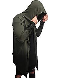 Oversize OMBRE Designer Sweat Jacke Cardigan Hoody hip hop Pullover Shirt Herren Hoodie Longsleeve m NEU Kapuzenpullover long Sweatjacke camouflage Sweatshirt Pulli longshirt body camo swag deep neck