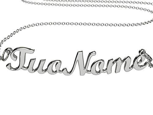 Halskette namens Erica aus 925 rhodiniertem Silber, hergestellt in Italien Modell G10S9R