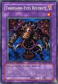 Yu-Gi-Oh! - Thousand-Eyes Restrict (MC1-EN004) - Master Collection Volume 1 - Limited Edition - Secret Rare by Yu-Gi-Oh!
