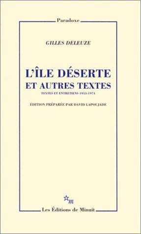 """<a href=""""/node/8894"""">L'île déserte et autres textes : textes et entretiens 1953-1974</a>"""