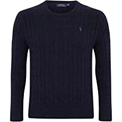 Idea Regalo - Polo Ralph Lauren Men's Pony Cable Knit Crewneck Sweater