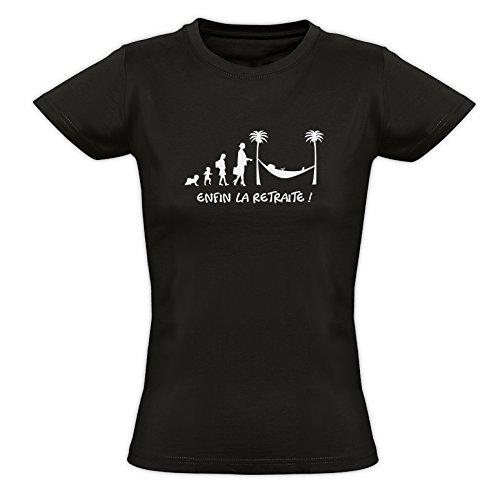 Tee Shirt Mujer Enfin La Jubilación. Negro Negro