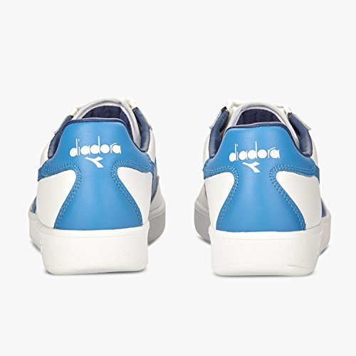 Diadora B. Elite, Unisex Low-top Shoes-adult Blanco Campanula Summer Blue