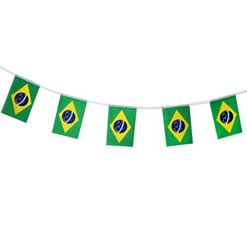 lagge 2018 String Flagge Für Sport Bars Party Dekorationen 5,5 Mt - Brasilien ()