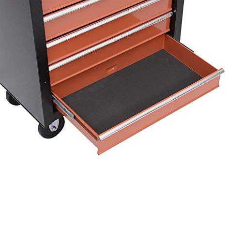 Homcom Werkstattwagen mit Lochplatte, 7 Schubladen, abschließbar - 8