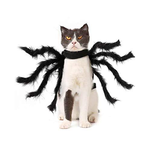 Hunde Spider Kostüm Große Für - POPETPOP Hund Halloween Outfits spinnenform pet Halloween kostüme pet Makeover Kleidung für Halloween Weihnachtsfeier Cosplay für kleine große Hunde welpen Katzen - m